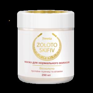 Маска для нормального волосся з біозолотом, протеїнами пшениці та вітамінами, Jerelia Zoloto Skifiv 52503