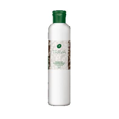 Джерелія-05823, Шампунь для неслухняного волосся з протеїнами шовку та пантенолом, Jerelia Trava